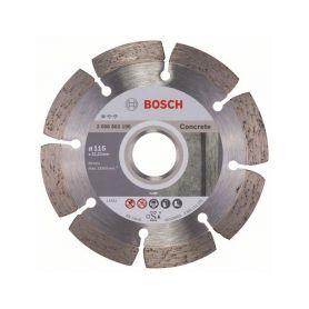 BOSCH 2608602196 Diamantový dělicí kotouč Standard for Concrete - 115 x 22,23 x 1,6 x 10 mm - 3165140441247 Diamantové řezné ...