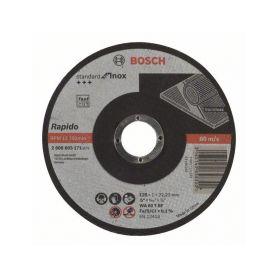 BOSCH Dělicí kotouč rovný Standard for Inox - Rapido - WA 60 T BF, 125 mm, 22,23 mm, 1,0 mm - 31 BOSCH