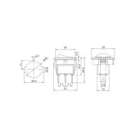 LED BAX9s bílá, 12V, 5LED/3SMD 1-95401cb