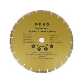 GEKO G00255 Diamantový řezný kotouč segmentový, 350x8x32mm Diamantové řezné kotouče