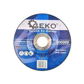 GEKO G00009 Řezný kotouč na ocel, 125x6x22,23mm Řezné kotouče