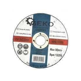 GEKO G00021 Řezný kotouč na ocel, 125x1,2mm Řezné kotouče