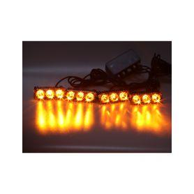 KF325 PREDATOR LED vnější, 12x LED 1W, 12V, oranžový Do mřížek chladiče
