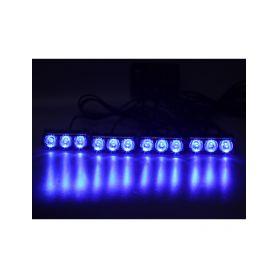 KF325BLU PREDATOR LED vnější, 12x LED 1W, 12V, modrý Do mřížek chladiče