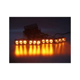 KF326W PREDATOR LED vnější bezdrátový, 12x LED 1W, 12V, oranžový Do mřížek chladiče