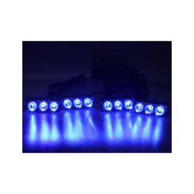 KF326WBLU PREDATOR LED vnější bezdrátový, 12x LED 1W, 12V, modrý Do mřížek chladiče