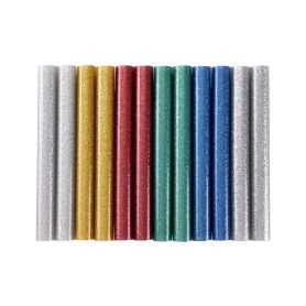EXTOL-CRAFT EX9911 Tyčinky tavné, mix barev se třpytem (glitter), pr.11x100mm, 12ks Pro pájky a pistole