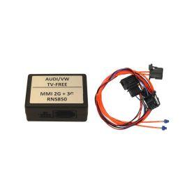 Odblokování obrazu pro Audi MMI/2G/3G/3G+,VW RNS850 - MOST