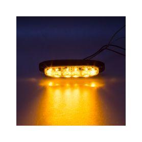 911-X6 PROFI výstražné LED světlo vnější, oranžové, 12-24V, ECE R65 Vnější s ECE R65