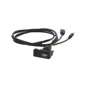 551MZ1 USB+JACK konektor Mazda USB/AUX kabely