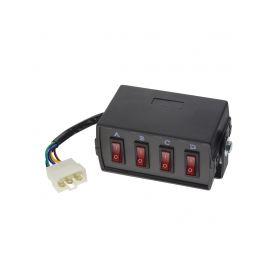 SB4-1 Panel s 4-mi přepínači Multipřepínače