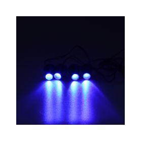 LED stroboskop modrý 4ks 1W