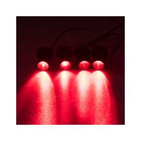LED stroboskop červený 4ks 1W