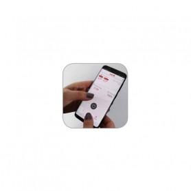 Poziční LED (tykadlo) gumové - červeno/bílé, 12-24V, ECE 1-trl022