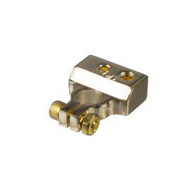G4-30 Zlacená svorka (+) pólu baterie (4 in) 1x30, 1x20, 2x8 mm2 GOLD bloky + svorkovnice