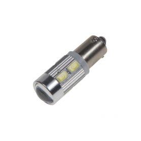 LED BAX9s bílá, 12-24V, 10LED/5730SMD