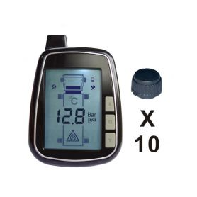 TPMS610 TPMS kontrola tlaku v pneumatice 10 externích čidel Nákladní vozidla, autobusy