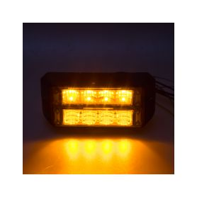911-C4D PROFI DUAL výstražné LED světlo vnější, 12-24V, oranžové, ECE R65 Vnější s ECE R65