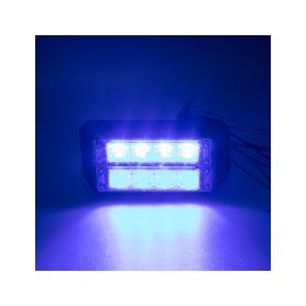 911-C4DBLU PROFI DUAL výstražné LED světlo vnější, 12-24V, modré, ECE R65 Vnější s ECE R65