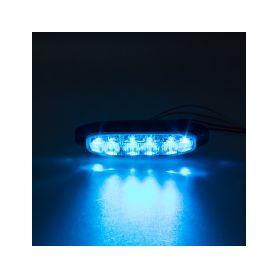 911-X6BLU PROFI výstražné LED světlo vnější, modré, 12-24V, ECE R65 Vnější s ECE R65