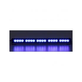 KF756-5BLU LED světelná alej, 20x LED 3W, modrá 580mm, ECE R10 Vnitřní