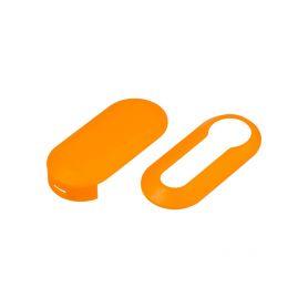 48FA112ORA Náhr. obal klíče pro Fiat, 3-tlačítkový oranžový OEM obaly klíčů