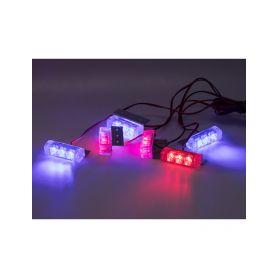 KF745-6BLRE PREDATOR LED do mřížky, 12V, modro-červená Do mřížek chladiče