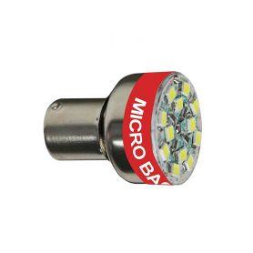LED žárovka BA15S 12V se signalizací couvání Bi-Bi-Bi...