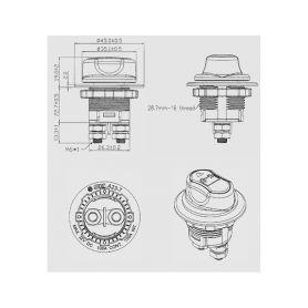 CarClever Silikonový obal pro klíč Citroen 2-tlačítkový, černý 1-481ct104bla