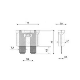 Centrální zamykání  1-se504 2-drátový servomotor se spoj. mat. se504