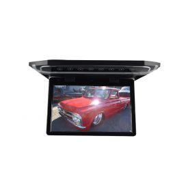 """Stropní LCD monitor 10,1"""" černý s HDMI/microSD/IR/FM, ultra tenký"""