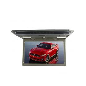 """Stropní LCD monitor 10,1"""" šedý HDMI/microSD/IR/FM, ultra tenký"""
