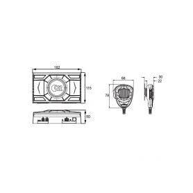 CarClever USB + jack/RCA zásuvka univerzální 1-pc7-227