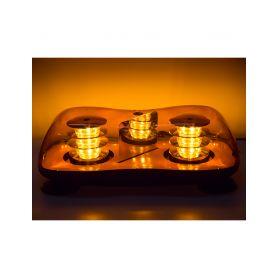 SRE2-231M LED rampa oranžová, 36LEDx3W, magnet, 12-24V, 419mm, ECE R65 R10 Malé magnetické