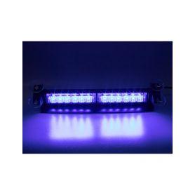 KF752BLUE PREDATOR LED vnitřní, 12x3W, 12-24V, modrý, 353mm, ECE R10 Vnitřní
