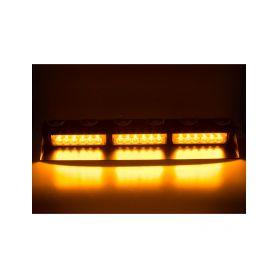 KF753 PREDATOR LED vnitřní, 18x3W, 12-24V, oranžový, 490mm, ECE R10 Vnitřní