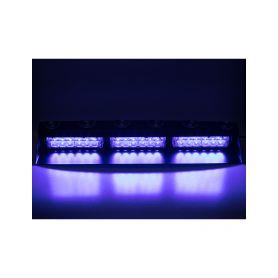 KF753BLUE PREDATOR LED vnitřní, 18x3W, 12-24V, modrý, 490mm, ECE R10 Vnitřní