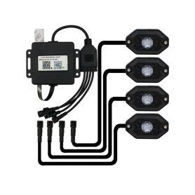 LEDROCKRGB LED podsvětlení podvozku RGB 12-24V, Bluetooth, 12x3W LED pásky