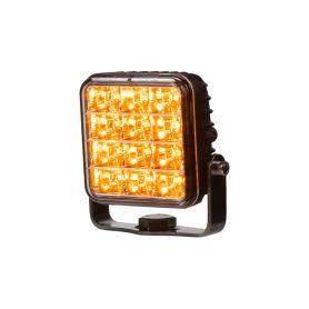 KF224 PREDATOR vnější, 10-30V, 12x2W SMD LED, oranžový, 74x74x38mm, ECE R65 Vnější s ECE R65