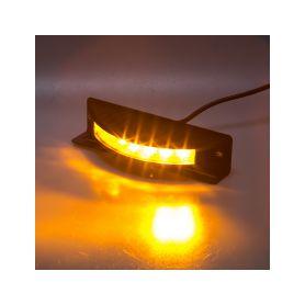 KF186 Výstražné LED světlo vnější, 12-24V, 6x3W, oranžové, ECE R65 Vnější s ECE R65