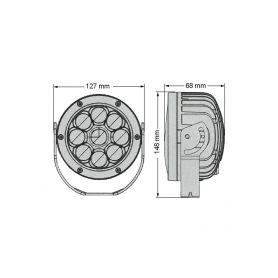 Majáky  1-wl87 wl87 LED maják, 12-24V, 18x3W, oranžový magnet, ECE R65