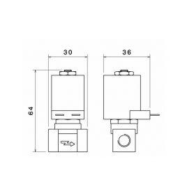Majáky  1-wl85 wl85 LED maják, 12-24V, 12x3W, oranžový magnet, ECE R65