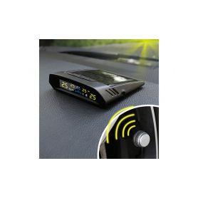 TPMS-X7 TPMS kontrola tlaku v pneumatice 4 externí čidla / solární napájení Osobní automobily