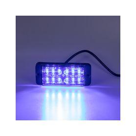 KF703DBLU LINEAR LED dual 12x5W LED, 12-24V, modrý, ECE R65 Vnější s ECE R65