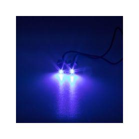 LED stroboskop modrý 2x3W, 12-24V
