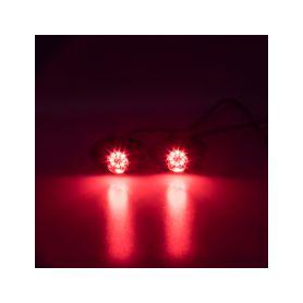 KF708RED x LED stroboskop červený 8x3W, 12-24V Stroboskopy