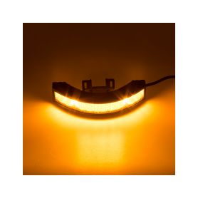 KF187 Výstražné LED světlo vnější, 12-24V, 12x3W, oranžové, ECE R65 Vnější s ECE R65