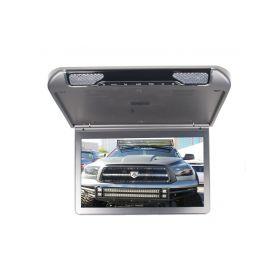 """Stropní monitor 13,3"""" šedo/stříbrný s SD/USB/IR/FM/HDMI"""
