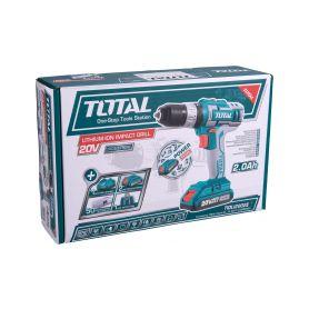 TOTAL-TOOLS TIDLI2002E Vrtací šroubovák aku s příklepem, 2x2000mAh, 20V Li-Ion, industrial Aku šroubováky