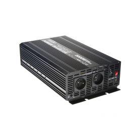Měnič napětí z 24/230V + USB, 3000W Měniče z 24V na 230V